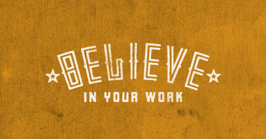 believe-gold typography by Brandon Rike