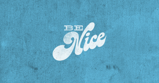 benice-Itblu typography by Brandon Rike