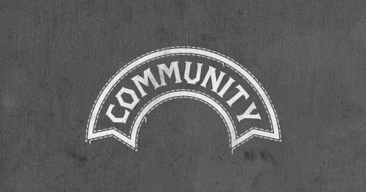 community-gray typography by Brandon Rike