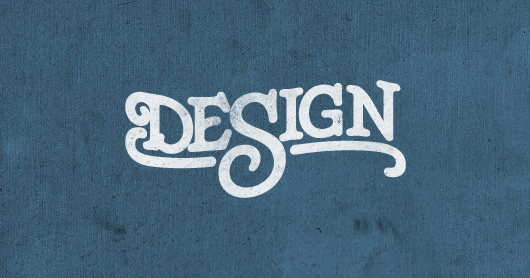 design-blue typography by Brandon Rike