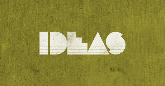 ideas-yellow typography by Brandon Rike
