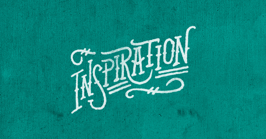 insp-teal typography by Brandon Rike