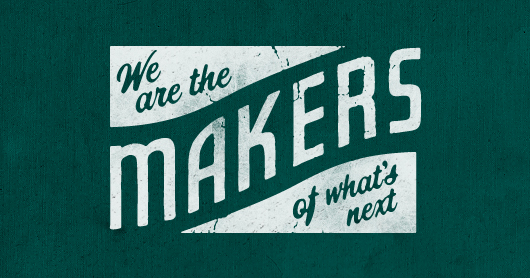 makers-forest typography by Brandon Rike
