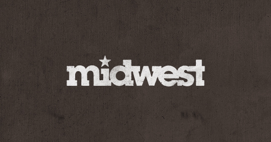 midwest-brown typography by Brandon Rike
