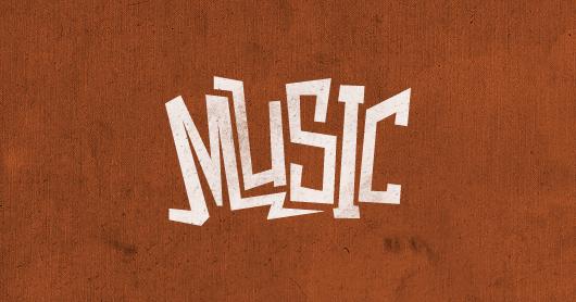 music-orange typography by Brandon Rike