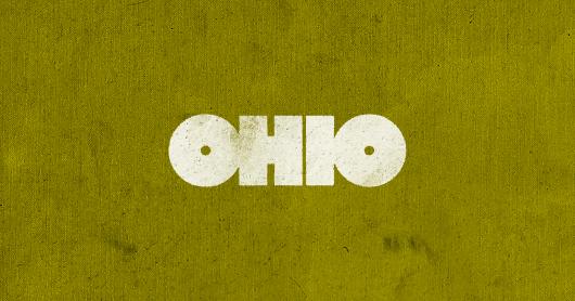 ohio-yel2 typography by Brandon Rike
