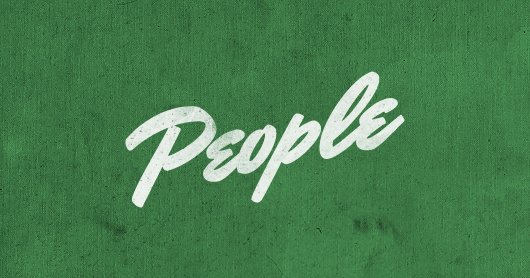 people-green typography by Brandon Rike