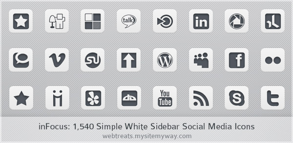 inFocus Simple Sidebar Social Media Icons