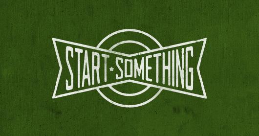 start-green typography by Brandon Rike