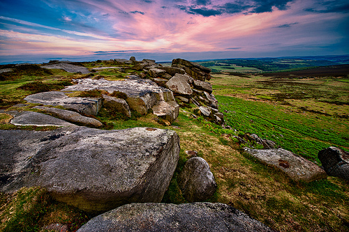Higger Tor Sunset by Steve Bark