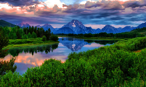 Stormy Mornings in Jackson Hole by Jeff R. Clow