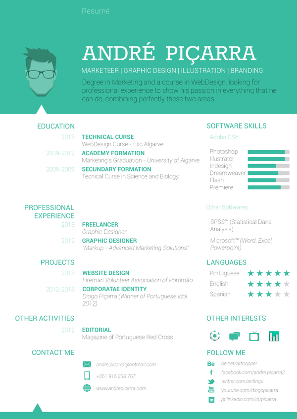14 resume designs we are in with logomyway
