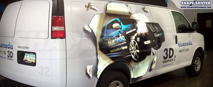 3d car graphic wrap bluemedia