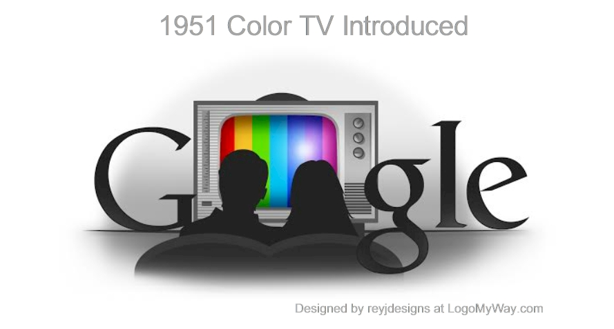 1951 Color TV Introduced Logo