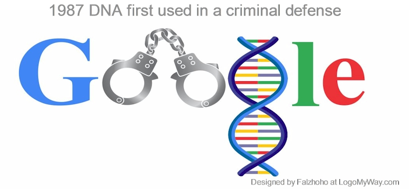 1987 DNA first used in a criminal defense Logo