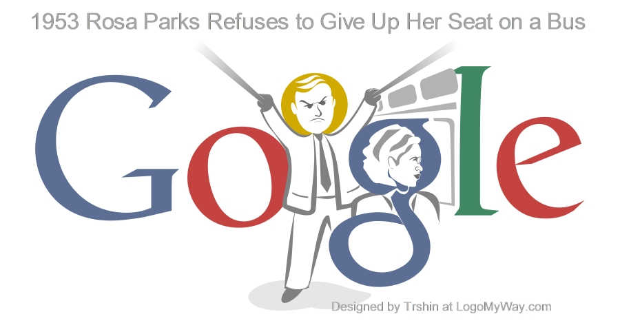 1953 Rosa Parks refuses to give up her seat Logo