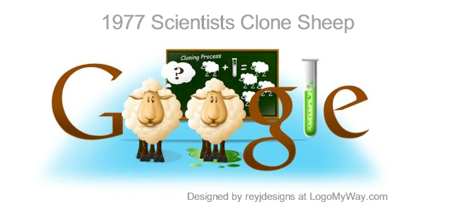 1977 Clone Sheep Google Logo