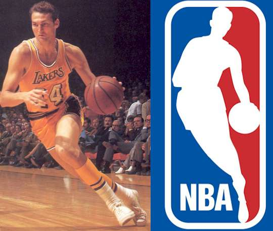 Image result for jerry west nba logo