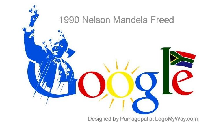Google Doodle 1990 Nelson Mandela Freed Logo
