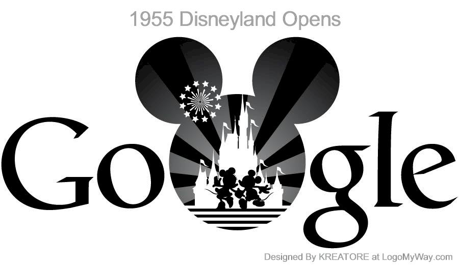 Google Doodle 1955 Disneyland Opens Logo