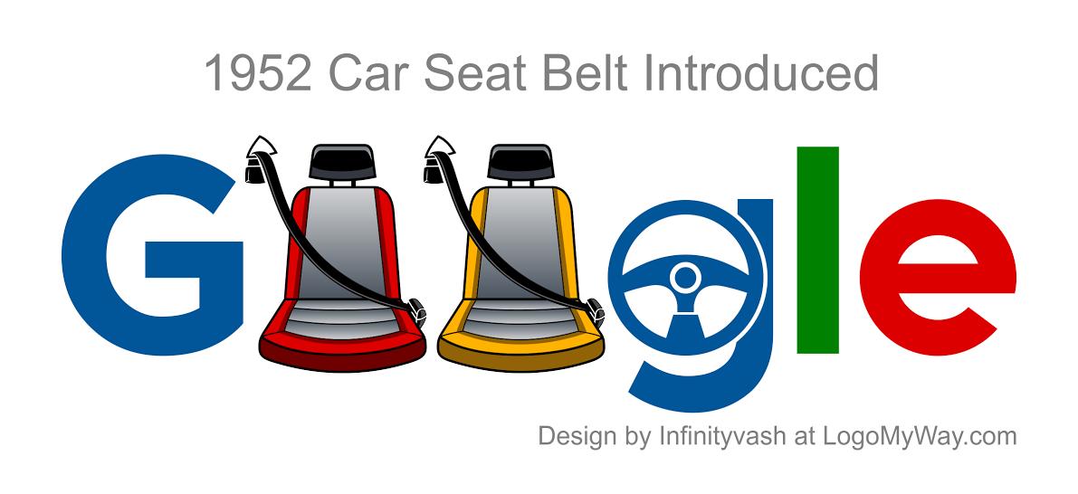 Google Doodle 1952 Car Seat Belt Introduced